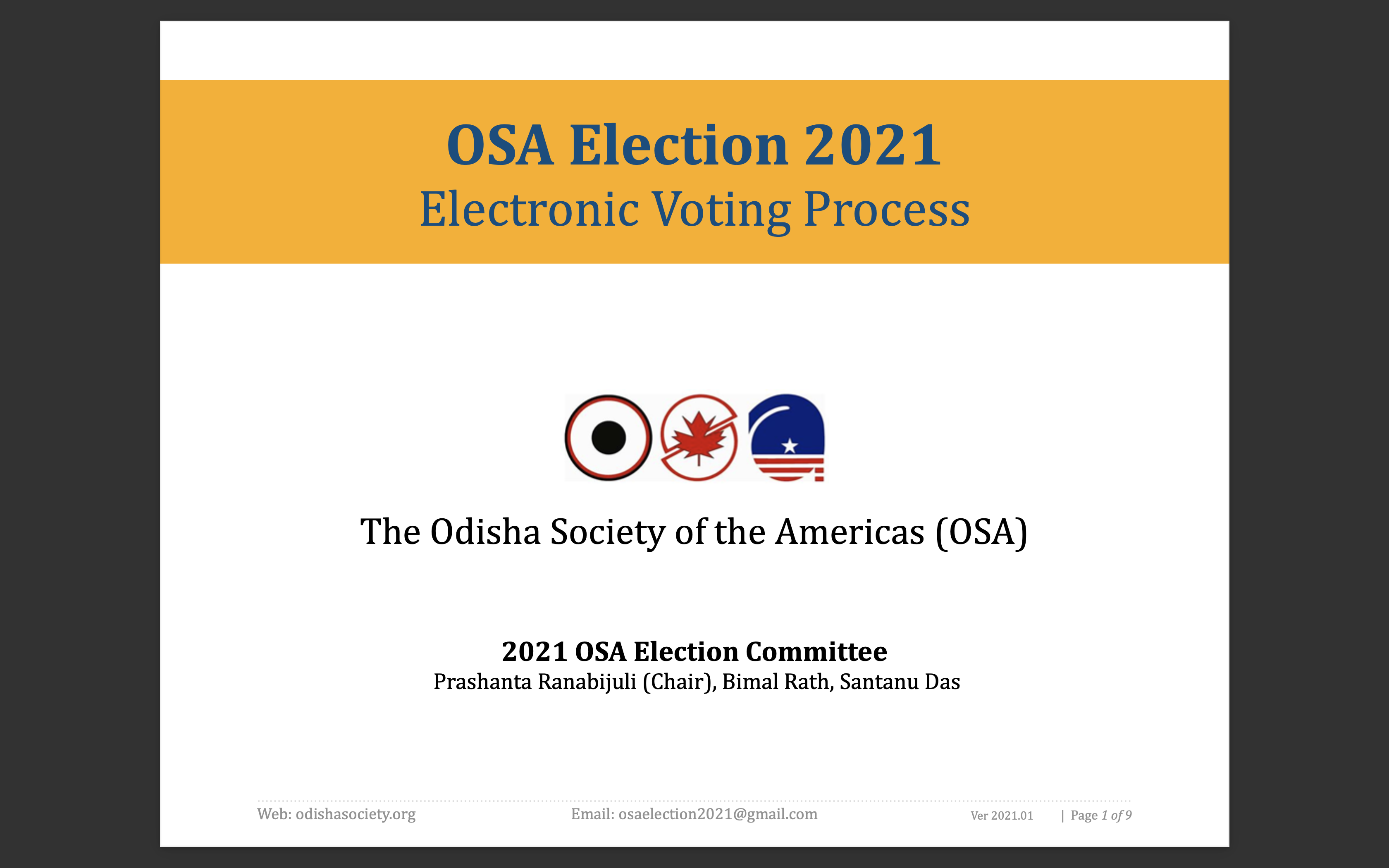 OSA Election 2021 - Voting instructions